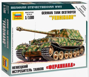 Zvezda Military 1/100 SdKfz 184 Ferdinand Heavy Tank Destroyer Snap Kit