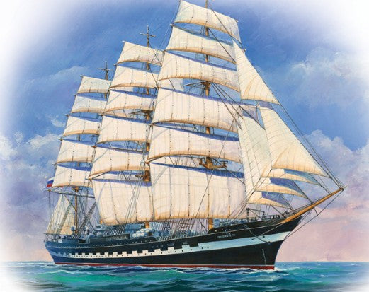 Zvezda Ships 1/200 Russian Krusenshtern 4-Masted Sailing Ship Kit