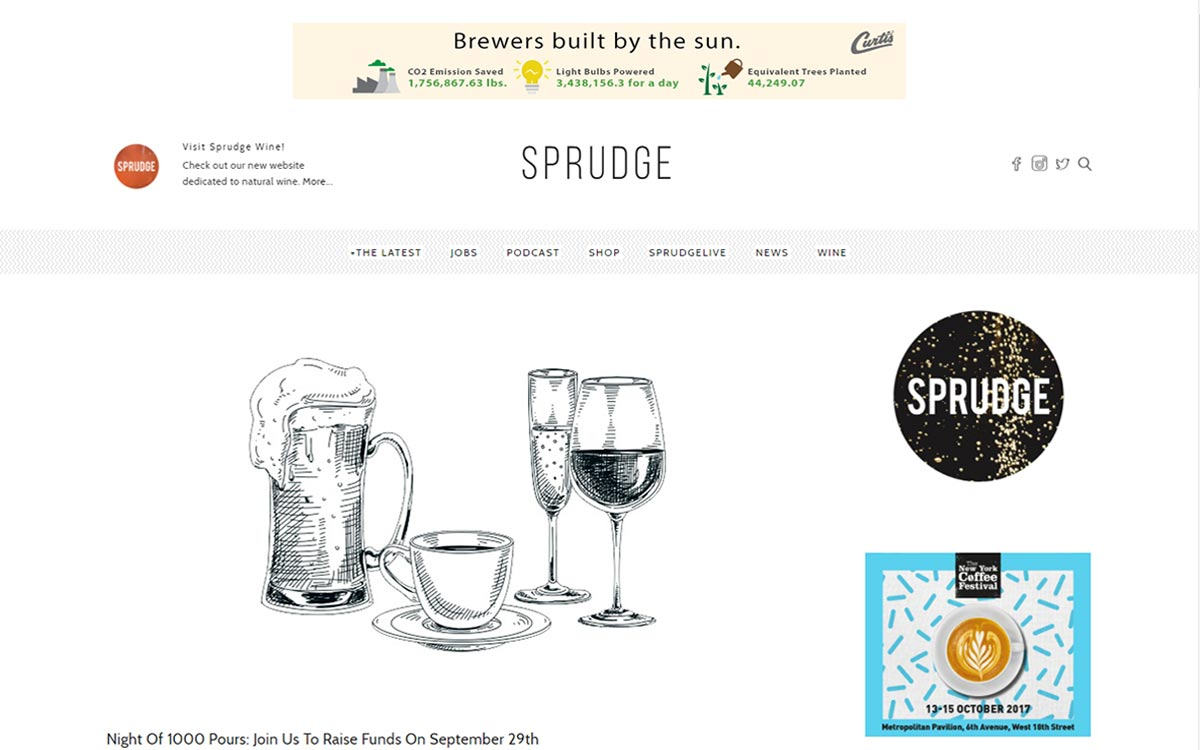 Sprudge website