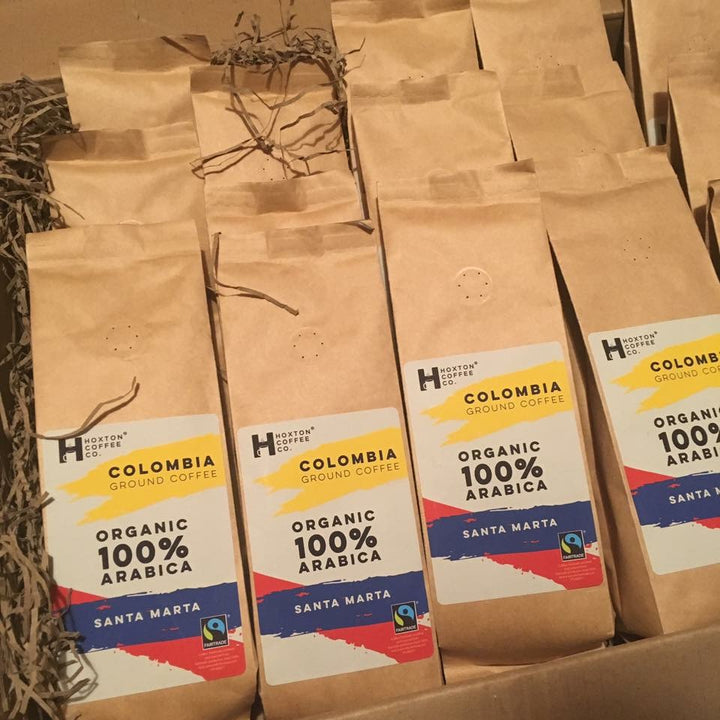 Hoxton Coffee Fairtrade Organic Colombia Coffee bags