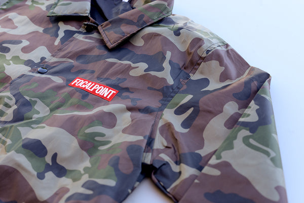 Focalpoint Box Logo coach jacket