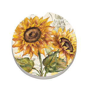 Car Coaster  Tuscan Sunflower