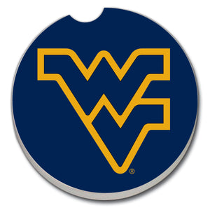 Car Coaster West Virginia University on Blue