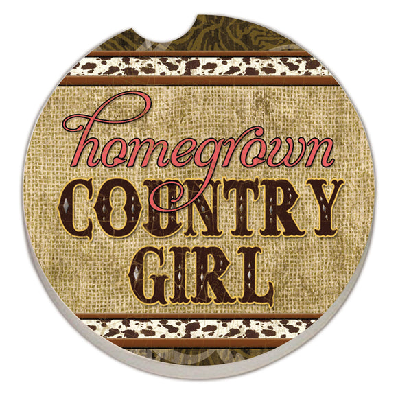 Car Coaster 1PK Country Girl - Fort Valley Bob's Simple Man Store
