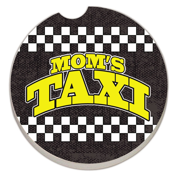 Car Coaster 1PK Mom's Taxi- Checkerboard - Fort Valley Bob's Simple Man Store