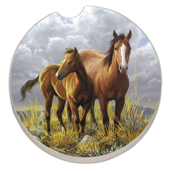 Car Coaster 1PK Horses - Fort Valley Bob's Simple Man Store