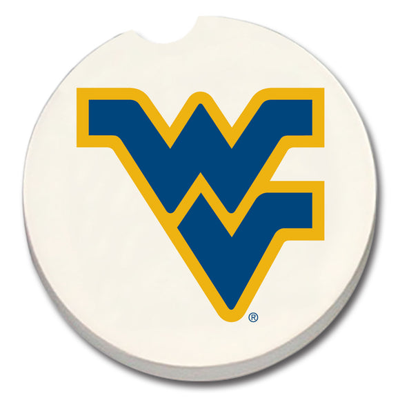 Car Coaster - WEST VIRGINIA UNIVERSITY  on white