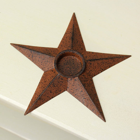 Rusty Star Candle Holder