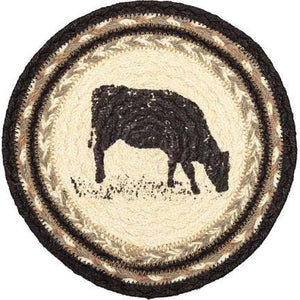 "8"" JUTE TRIVETS -SAWYER MILL COW"