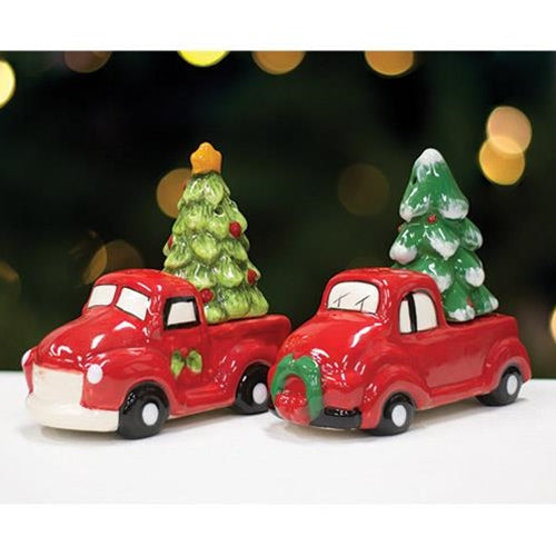 Red Truck & Christmas Tree Salt & Pepper Shaker Set (Choice)