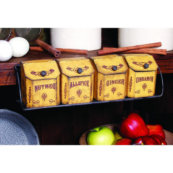 Vintage Look - Spice Bin Rack Set - Fort Valley Bob's Simple Man Store