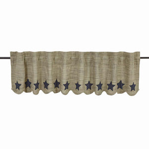 VHC VINCENT Scalloped Valance Lined 16 x 60""