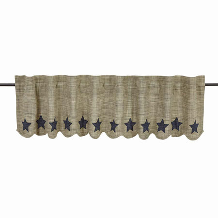 VHC VINCENT Scalloped Valance Lined 16 x 60