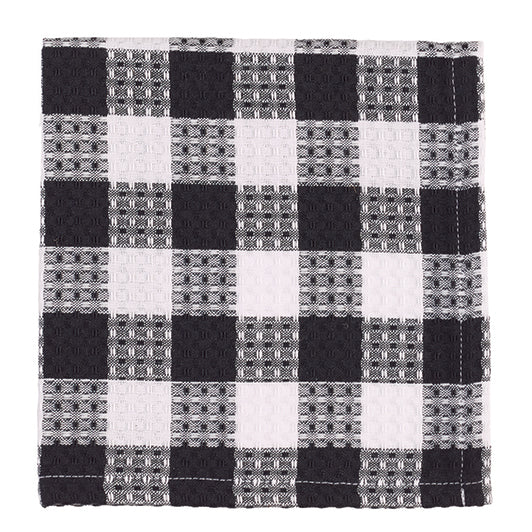 DISH CLOTH Black Checked by The Country House Collection