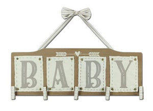 Wood Baby Wall Photo Clip