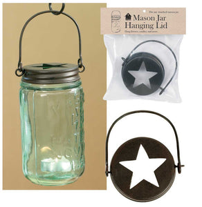 Hanging Mason Jar Lid Only - Fort Valley Bob's Simple Man Store