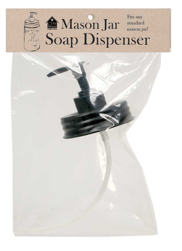 Mason Jar Soap Dispenser- Black