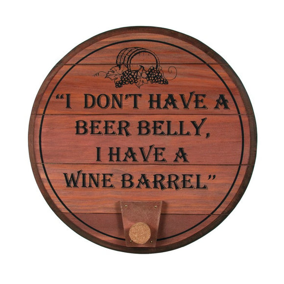Wooden Sign - Wine Barrel Sign - Fort Valley Bob's Simple Man Store