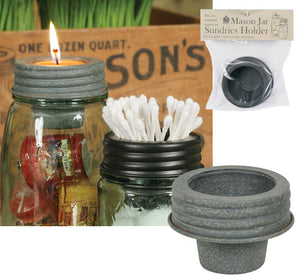 Mason Jar Tapered Cup Lid- Barn Roof - Fort Valley Bob's Simple Man Store