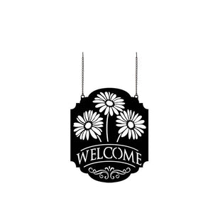 "Garden Flag - Metal - ""Welcome Gerbera"""