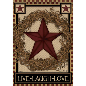 Garden Flag- Star Wreath (Double Sided)