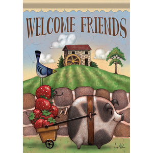 Garden Flag FARM FRIENDS (Double Sided)