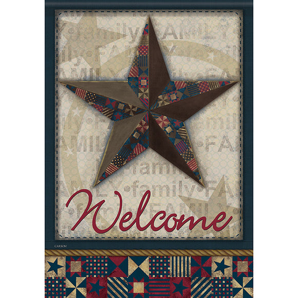 Garden Flag (Double Sided) Quilted Barn Star