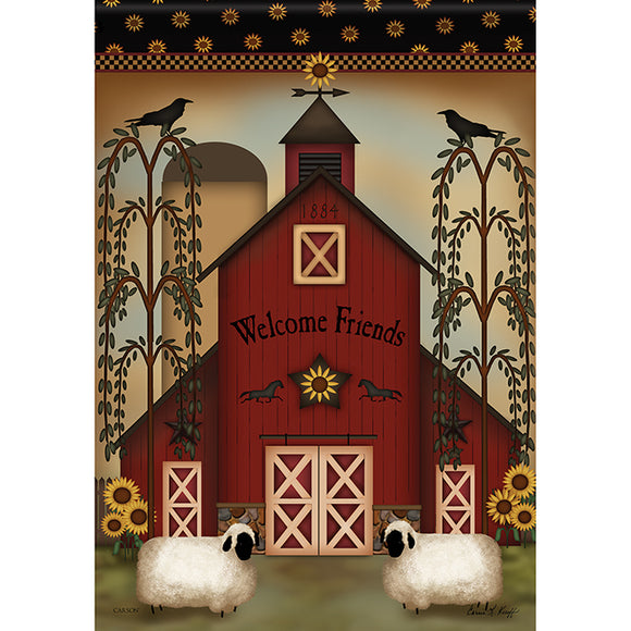 Garden Flag WELCOME BARN (Double Sided)