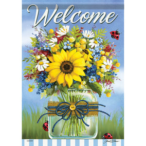 Garden Flag - Summer in a Mason Jar (Double Sided)