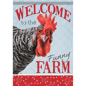 Garden Flag Funny Farm Chicken - (Double Sided)