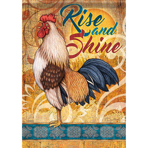 Garden Flag MORNING ROOSTER (Double Sided)
