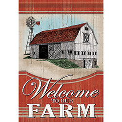 Garden Flag  FARM WELCOME (Double Sided)