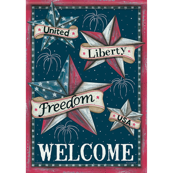 Garden Flag - Patriotic Welcome (Double Sided)