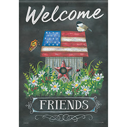 Garden Flag  PATRIOTIC WELCOME (Double Sided)