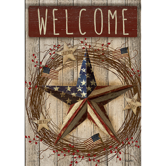 Garden Flag  PRIMITIVE PATRIOTIC (Double Sided)