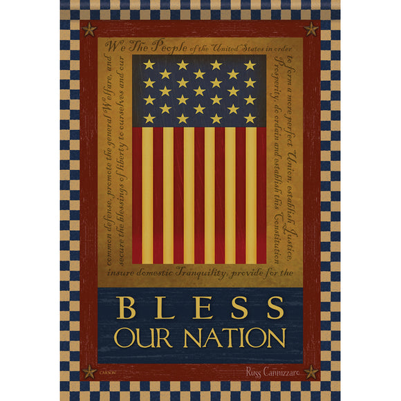 Bless Our Nation Dura Soft Garden or House Flag