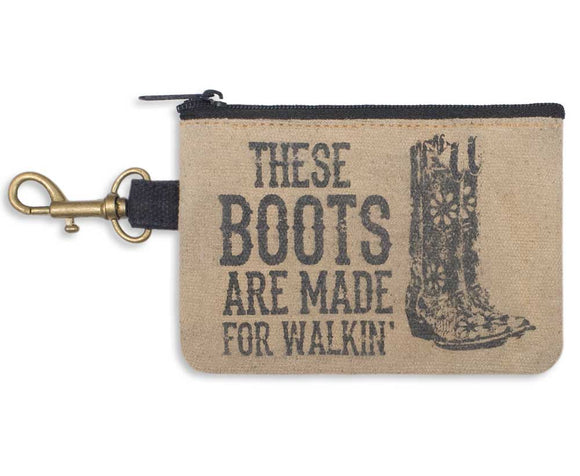 (50% OFF) Back Roads- THESE BOOTS(Wristlet or coin purse)