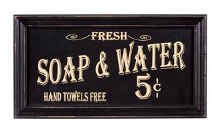 Vintage Look- Bath Advertising Framed Sign - Fort Valley Bob's Simple Man Store