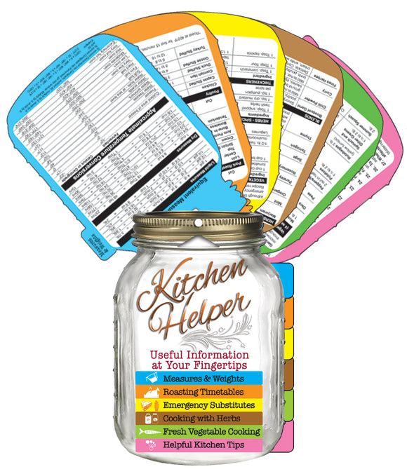 Mason Jar Kitchen Helper Chart