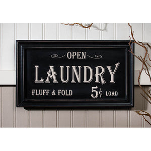 Vintage Look- Laundry Advertising Framed Sign