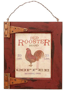 Plaque Red Rooster Coffee - Fort Valley Bob's Simple Man Store
