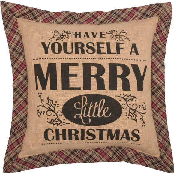 VHC CLEMENT Merry Christmas Pillow 18 x 18