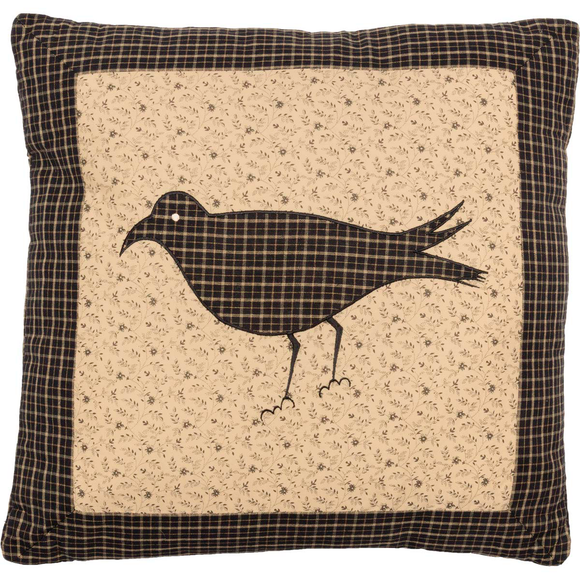 VHC- KETTLE GROVE FILLED PILLOW CROW 16 X16""
