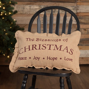 VHC Christmas Blessing Pillow 14 x 22
