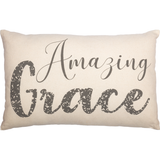 (SALE) CASEMENT NATURAL WHITE AMAZING GRACE PILLOW 14X22