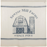 "VHC SAWYER MILL BLUE BARN Shower Curtain 72"" x 72"""