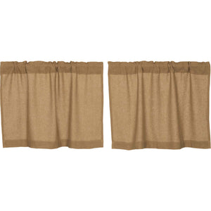VHC BURLAP NATURAL TIERS 24'' SET OF 2