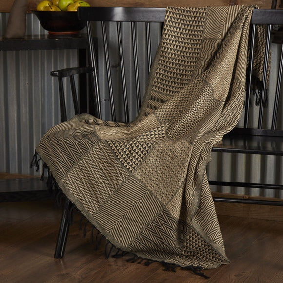 Sampler Black Tan THROW 60 x 50