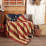 Old Glory Throw Woven Throw