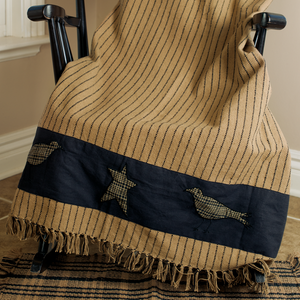 (SALE) VHC- Kettle Grove Applique Throw